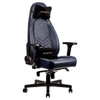 Крісло ігрове Noblechairs Icon Real Leather Midnight Blue (GAGC-092)