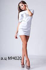 Мини-платье со вставкой из экокожи, фото 2