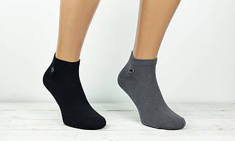 Шкарпетки чоловічі Montebello носки з бавовни короткі з буквою М 41-44 12 шт в уп асорті із 4х кольорів