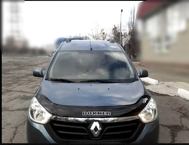 Дефлектор капота  Renault Dokker с 2016 г.в. Vip Tuning