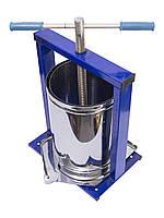 Пресс винтовой для отжима сока из фруктов ягод и овощей Вилен 20 литров (нержавейка)