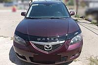 Дефлектор капота Mazda 3 с 2003-2008 г.в. седан (Мазда 3) Vip Tuning