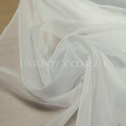 Ткань шифон вуаль для штор молочный, фото 2