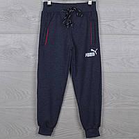 """Спортивные штаны детские """"Puma реплика"""" 5-6-7-8-9 лет (110-134 см). Серый меланж. Оптом"""
