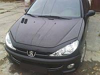 Дефлектор капота Peugeot 206 с 1998 г.в. (Пежо 206) Vip Tuning