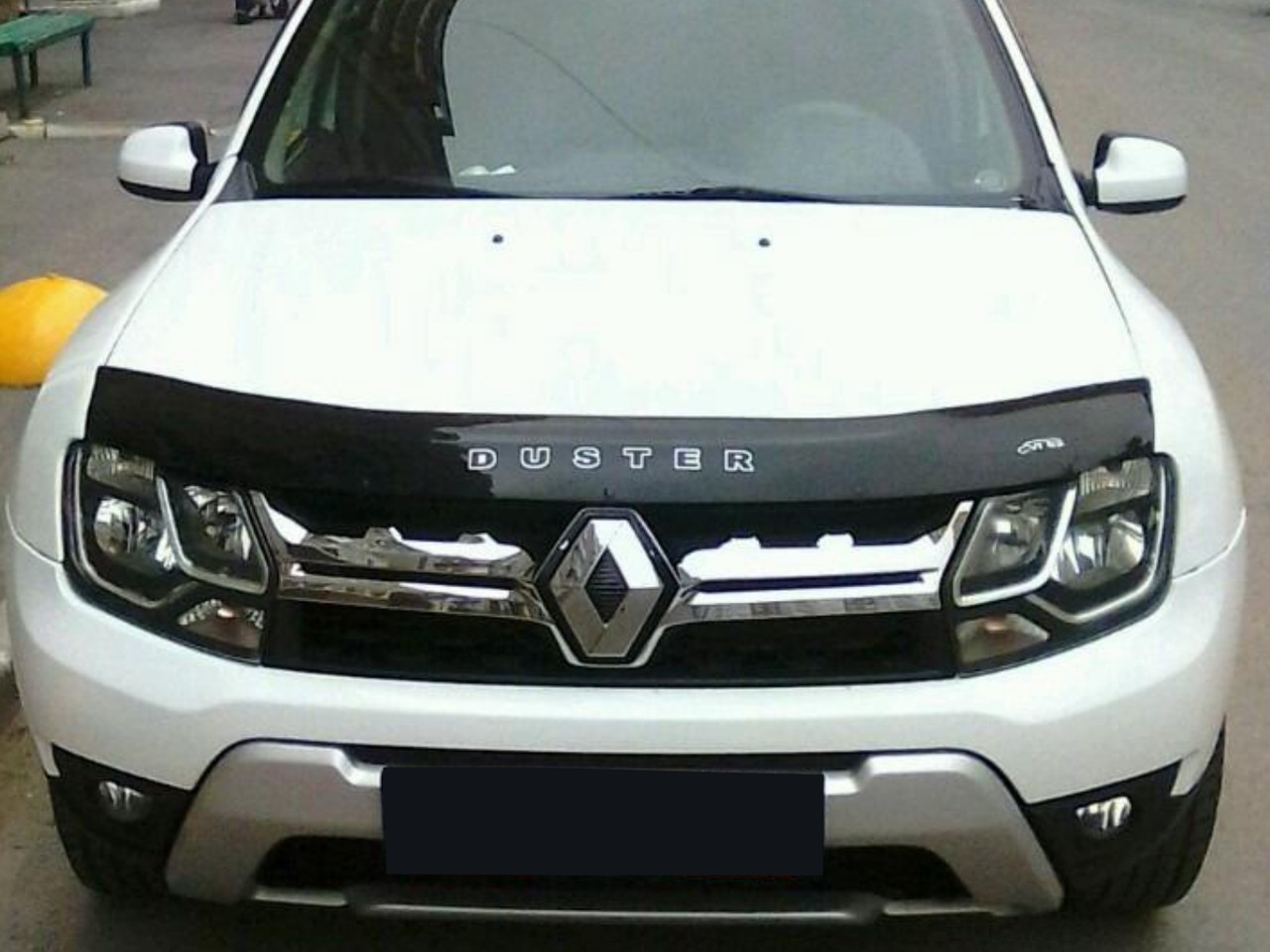 Дефлектор капота Renault Duster с 2010 г.в. (Рено Дастер) Vip Tuning