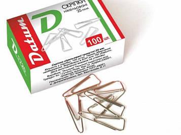 Скрепки канцелярские D1720 25мм треугольные 10 пачек