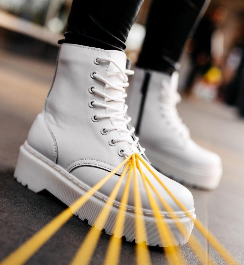 Женские зимние ботинки Dr. Martens Jadon   Platform Boots с мехом