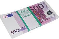 Деньги сувенирные 500 евро . Пачка евро 80 шт.