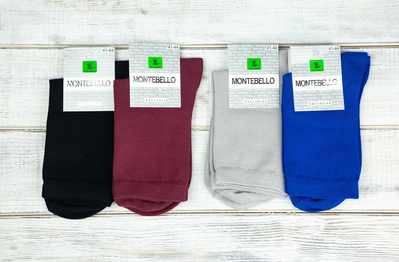 Мужские носки Montebello из хлопка однотонные 40-45 12 шт в уп микс 6 цветов