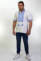 Вышитая мужская рубашка из льна, фото 1