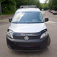 Мухобойка +на капот  VW CADDY с 2010 г.в. (Фольксваген Кадди) Vip Tuning