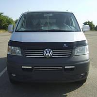 Мухобойка +на капот  VW T-5+ с 2009 г.в. (Фольксваген Т-5) Vip Tuning