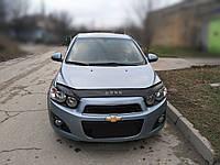 Дефлектор капота Chevrolet Aveo с 2011 г.в. (Шевроле Авео) Vip Tuning