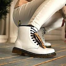 Женские зимние ботинки Dr. Martens 1460 Black с мехом, фото 3