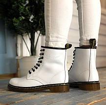 Женские зимние ботинки Dr. Martens 1460 Black с мехом, фото 2