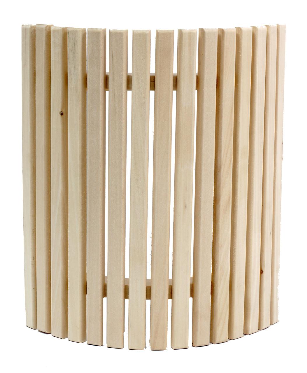 Ограждение светильника угловое для бани и сауны (липа)