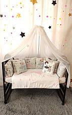 """Набор постельного белья детскую кроватку/ манеж """"Балерина"""" - Бортики в кроватку / Защита в детскую кроватку, фото 2"""