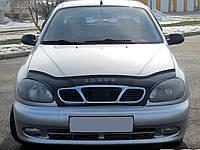 Дефлектор капота Chevrolet Lanos  с 2005 г.в. ( с решеткой радиатора) (Шевроле Ланос) Vip Tuning