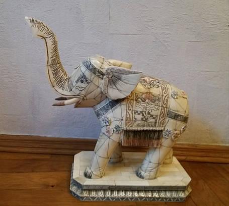 Слон 1-я підлог.ХХ століття слонова кістка, фото 2