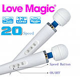 Вибромассажер аккумуляторный Love Magic 10 режимов фиолетовый, фото 2