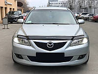 Дефлектор капота Mazda 6 с 2002-2008 г.в. (Мазда 6) Vip Tuning