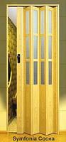 """Двері гармошка під скло """"Vinci Decor Simfonia"""" 860мм Сосна"""