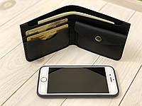 Чоловічий гаманець з натуральної шкіри Goose™ Montis G0045 чорний з монетницею, фото 1