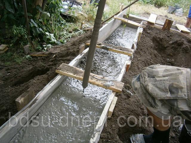Приём бетона