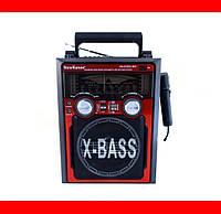 Радиоприемник Музыкальный центр NewKanon KN-61-REC-R USB/МР3 Колонка акустическая Портативная акустика Радио