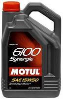 Масло моторное MOTUL 6100 Synergie 15W-50 4L