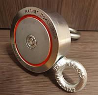 Двухсторонний поисковый магнит РЕДМАГ F200*2, ✓усилие 240кг, ♛доставка и ТРОС в подарок♛