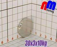 Магніт неодимовий диск 30*3*10кг, N42, ПОЛЬША ☀ПІДБІР☀ОБМІН☀ГАРАНТІЯ☀