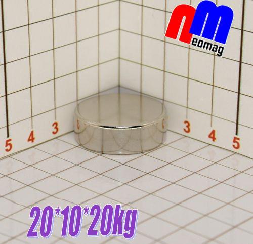 Магніт неодимовий диск 20*10*20кг, N42, ПОЛЬЩА ☀ПІДБІР☀ОБМІН☀ГАРАНТІЯ☀