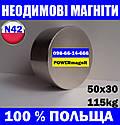 Магніт неодимовий пошуковий 50*30*115кг, N42, ПОЛЬША ☀ПІДБІР☀ОБМІН☀ГАРАНТІЯ☀, фото 2