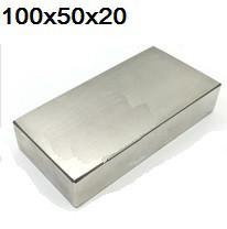 Польський неодимовий магніт 100х50х20 мм, 180кг, N42