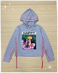 Модный свитшот кроп для девочек Размеры 140- 152