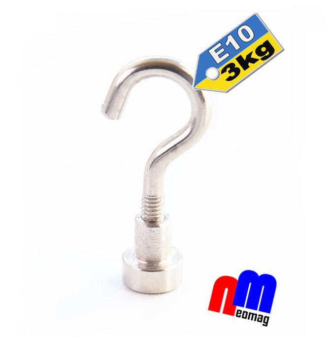Крепежный неодимовый магнит, держатель Е10, 3кг☀ПОЛЬША☀N42☀ГАРАНТИЯ 30лет☀