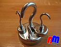 Крепежный неодимовый магнит, держатель, с крючком Е16, 6кг☀ПОЛЬША☀N42☀ГАРАНТИЯ 30лет☀, фото 2