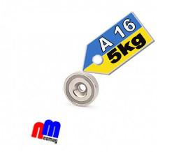 Магнит в корпусе с зенковкой под саморез (потай) A16, 6кг ✰ПОЛЬША•N42•ГАРАНТИЯ 30лет✰