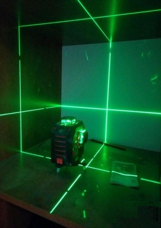 Лазерный 3D нивелир Fukuda MW 93Tgreen + Li-ion (3*360) [зеленый луч, аналог Bosch GLL 3-80CG]