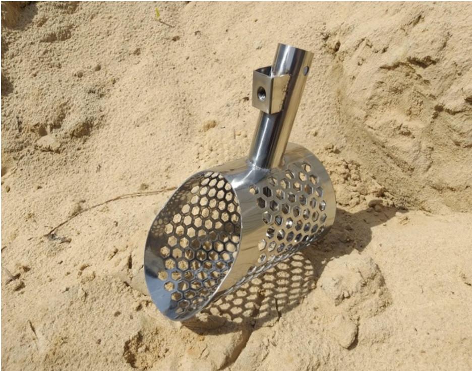 Пляжный совок (скуп) Scoop America ➜толщина 1.5мм➜отверстие 9мм ➜размер170х105 мм