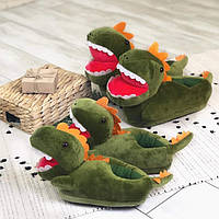 Детские домашние тапочки Динозавр, Прикольные тапки, прикольні тапки, Дитячі домашні тапочки Динозавр