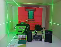❃FUKUDA 3D лазерный уровень ◕‿◕ с зелеными лучами 〖МАКСИМАЛЬНАЯ КОМПЛЕКТАЦИЯ〗