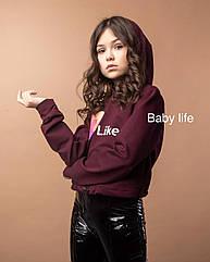 Модный свитшот кроп Likee для девочек Размеры 128 146