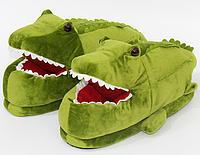 Тапочки-игрушки Крокодилы, тапочки игрушки, тапочки кигуруми, тапочки для дома, тапочки іграшки, тапочки кигуруми, тапочки для дому