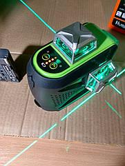 Лазерний рівень Huepar 3D HP-603CG бірюзовий промінь+ СУПЕРКОМПЛЕКТАЦИЯ!!!