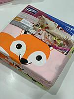Одно спальный детский комплект постельного белья Фланель