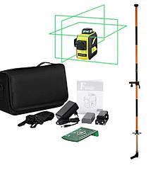 РАЗОМ ДЕШЕВШЕ + ШТАНГА 3,36 м ➤50m☀ 3D Лазерний рівень нівелір Firecore F93T ХG