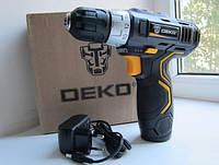 НАДЕЖНОСТЬ! Аккумуляторный шуруповёрт (дрель) DEKO GCD12DU3 12V 🔹Li-ion батарея 1300 mAh🔹Гарантия 1 год